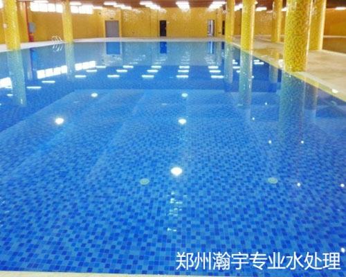郑州瀚宇为新蔡建业建造游泳池